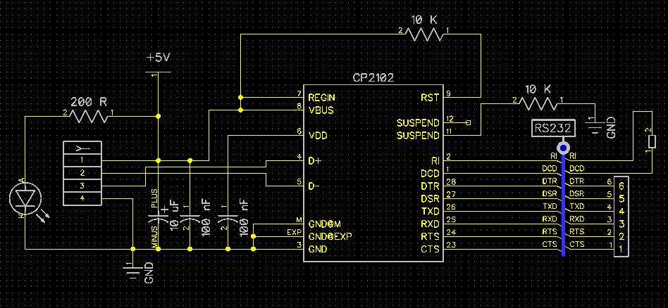 Не работает переходник USB->UART на CP2102 - Форумы по интерфейсам