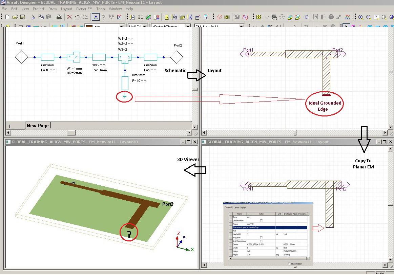 Моделирование короткозамкнутого шлейфа в Ansoft Designer
