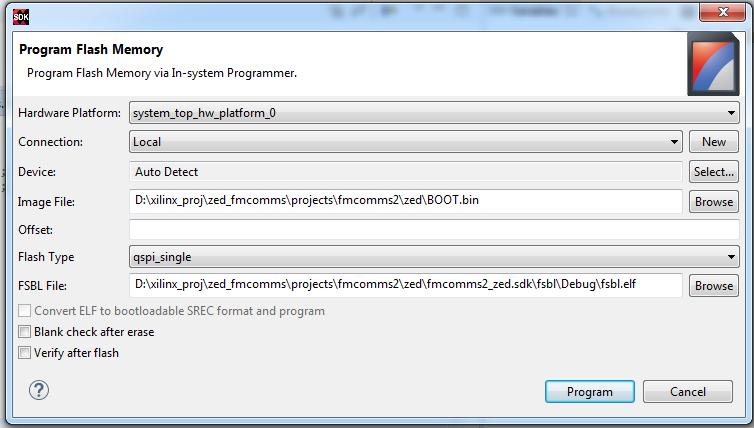 Zynq 7000, программирование QSPI через vivado или SDK